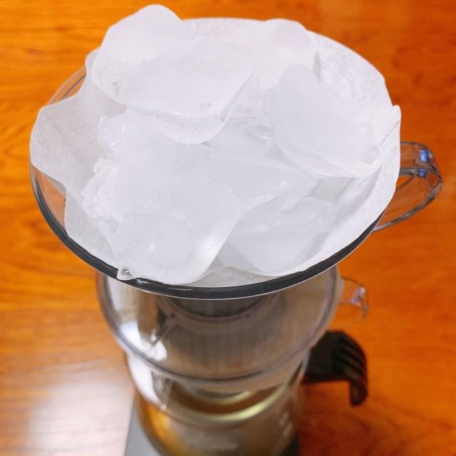 氷出しコーヒー 氷の量