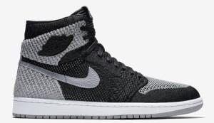 "98533b19842e7d Air Jordan 1 Flyknit ""Shadow"" Color  Black Medium Grey-White Style Code   919704-003. Release Date  January 13"