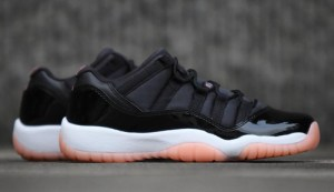 5a51be85c03764 Air Jordan 11 Low GS Color  Black Bleached Coral-White Style Code   580521-013. Release Date  April 7