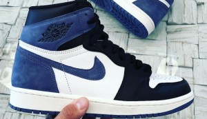 ac7ad4d38aba Air Jordan 1 Retro High OG Color  Summit White Blue Moon-Black Style Code   555088-115. Release Date  May 1