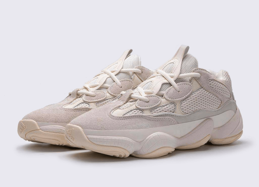 "An official image of the Yeezy 500 ""Bone White"""