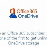 一足お先!にOneDriveの容量が無制限になったよ