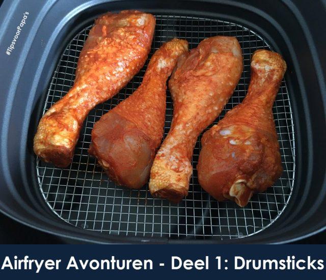 airfryer koken drumsticks gezond healthy