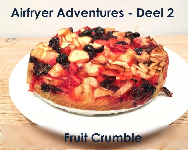 airfryer adventures fruit crumble