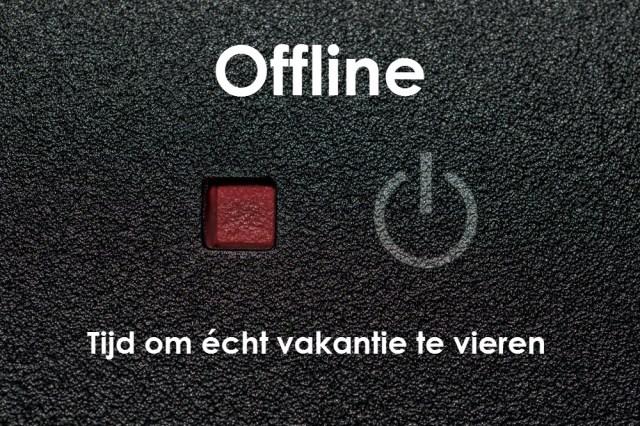 offline vakantie blogger blog