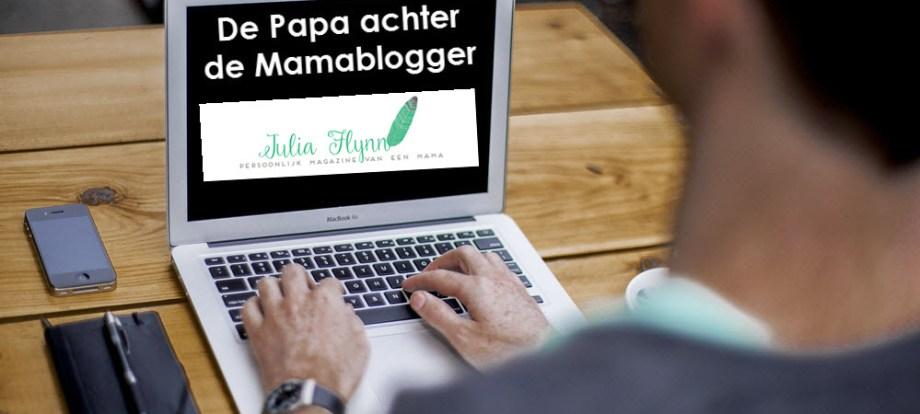 Papa achter Mamablogger Julia Flynn