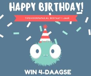 Happy Birthday – Win 4-daagse Tips voor Papa's