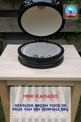 Mini Kamado barbecue the basterd alternatief