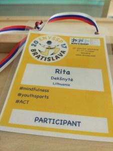 Conference participant badge