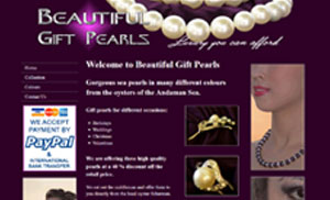 Beautiful Gift Pearls Website