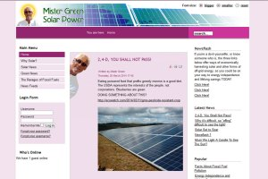 CMS blog website with contact form and user admin section