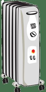 typischer elektrischer Ölradiator