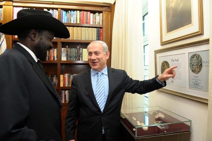 رئيس جنوب السودان بصحبة نتنياهو