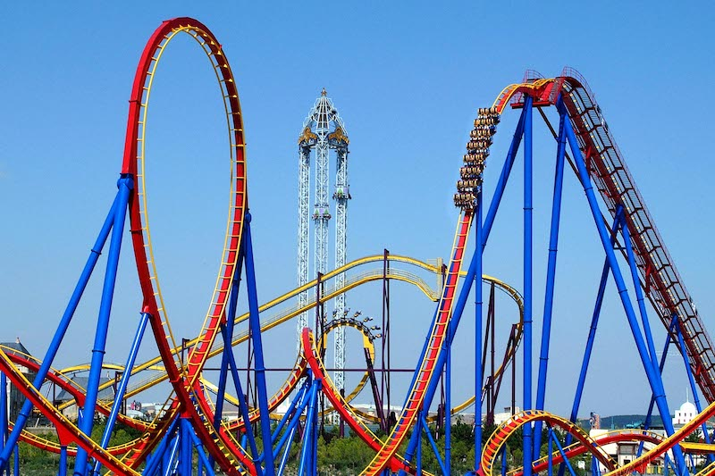 Another one of the best theme parks in Spain: Parque Warner in Madrid.