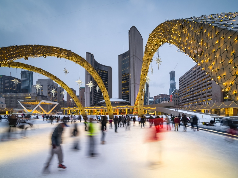 Nathan Phillips Square in Toronto, Canada