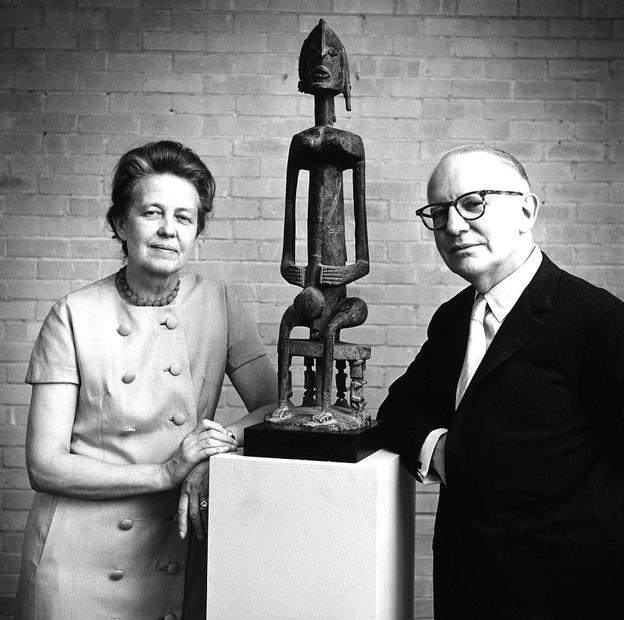 John and Dominique de Menil during the exhibition Humble Treasures