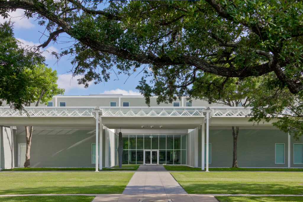 The entrance to the Menil Colelction's main building.
