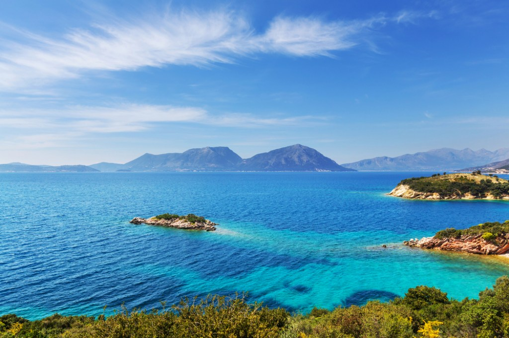 The turquoise hues of the Aegean Sea is referenced in many Greek myths and legends.