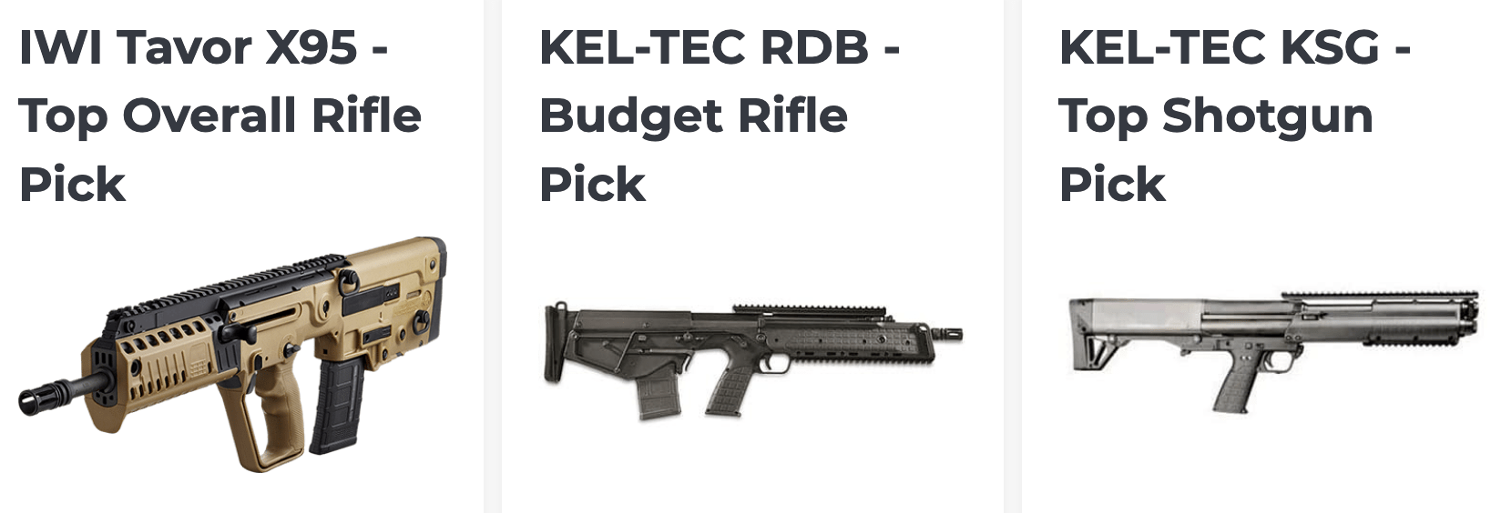 Las Mejores opciones de rifle y escopeta   Bullpup en 2020 por gunpros.com
