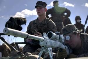 Los rifles de francotirador M40A5 y M110 SASS en Japón