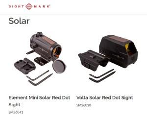 Puntos rojos de carga solar  Sightmark
