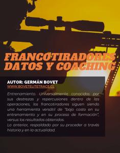 FRANCOTIRADORES DATOS Y COACHING por GERMÁN BOVET