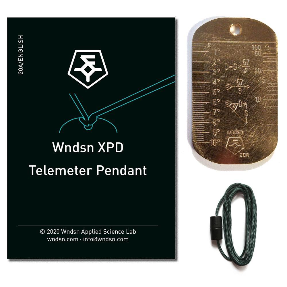 Presentamos la placa de identificación Telemeter WNDSN en latón