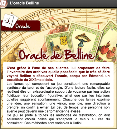 tirage du tarot oracle de belline