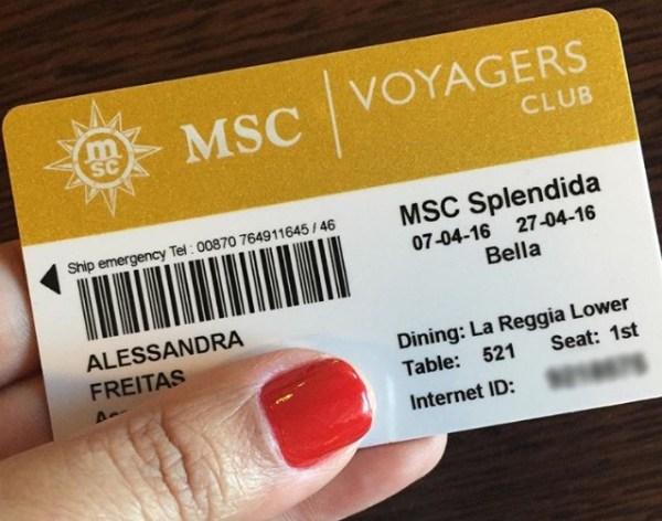 Cartão magnético para usar durante a Travessia. (Foto: Alessandra Maróstica)
