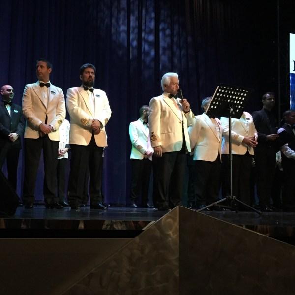 Apresentação dos Oficiais do Navio MSC Splendida. Foto: AMF / Blog Tirando Férias
