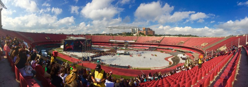 Estádio do Morumbi no dia do show da banda One Direction. Foto: AMF / Blog Tirando Férias