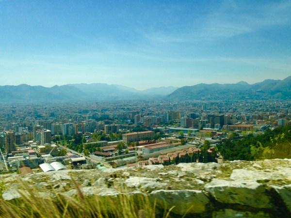 Palermo vista do alto do Monte Pellegrino. Foto: AMF / Blog Tirando Férias