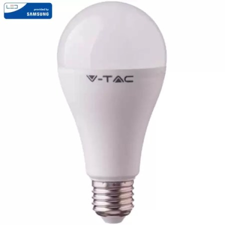 LED Крушка SAMSUNG Чип 15W A65 E27 Топло Бяла Светлина VT-215