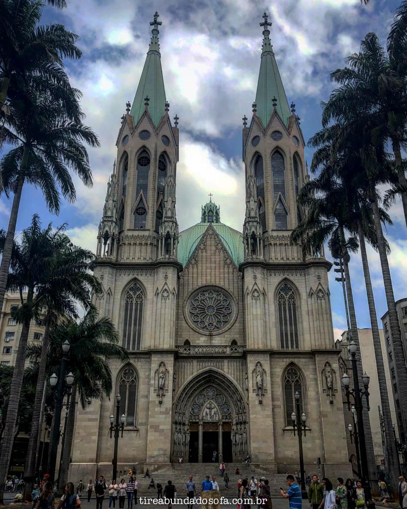 catedral da sé, no centro de são paulo