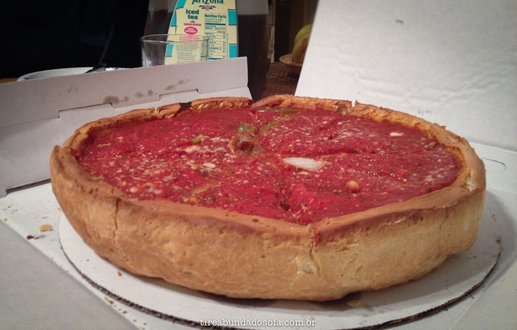 Deep Dish Pizza, em Chicago