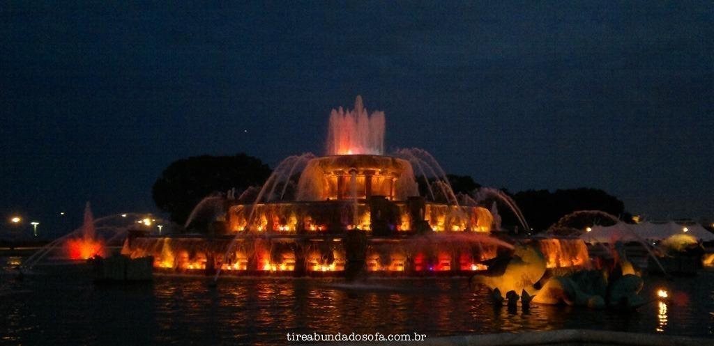 water fountain no grant park, em chicago