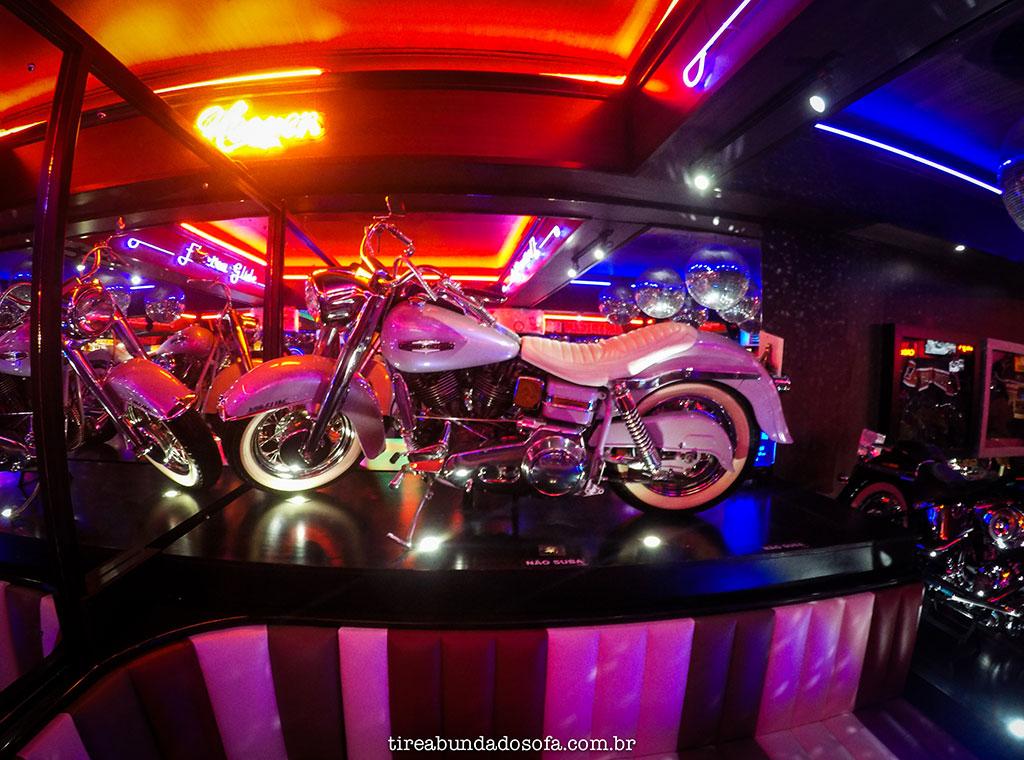 Moto Harley Davidson exposta no Harley Motor Show em Gramado