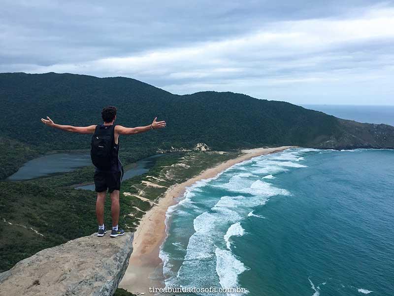 Vista da pedra da coroa, trilha da lagoinha do leste, florianópolis, ilha da magia, santa catarina, o que fazer em Florianópolis