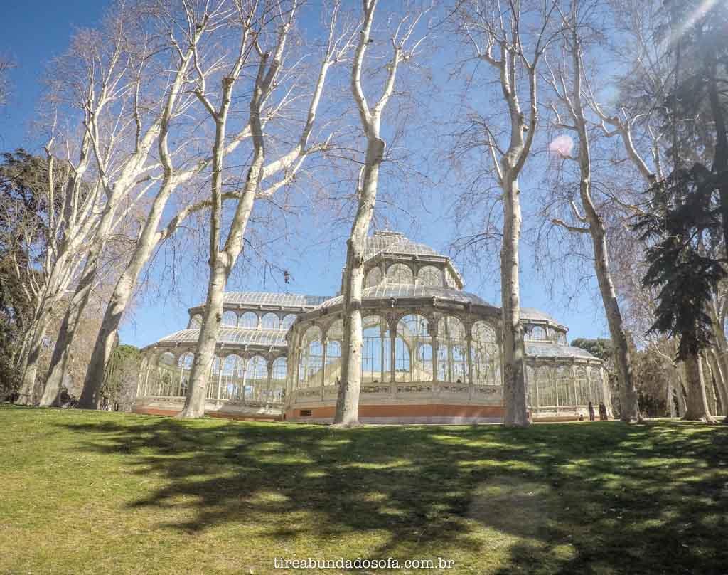 Palácio de Cristal, no Parque de El Retiro, em Madrid, Espanha