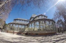 Palácio de Cristal, dentro do Parque de El Retiro, em Madrid, Espanha