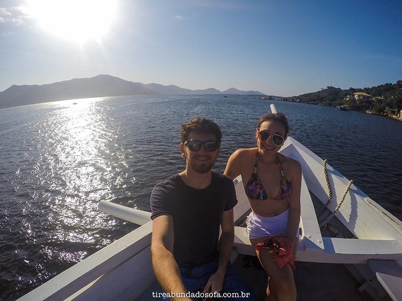 Passeio de barco na Lagoa da Conceição, Florianópolis, santa catarina, brasil