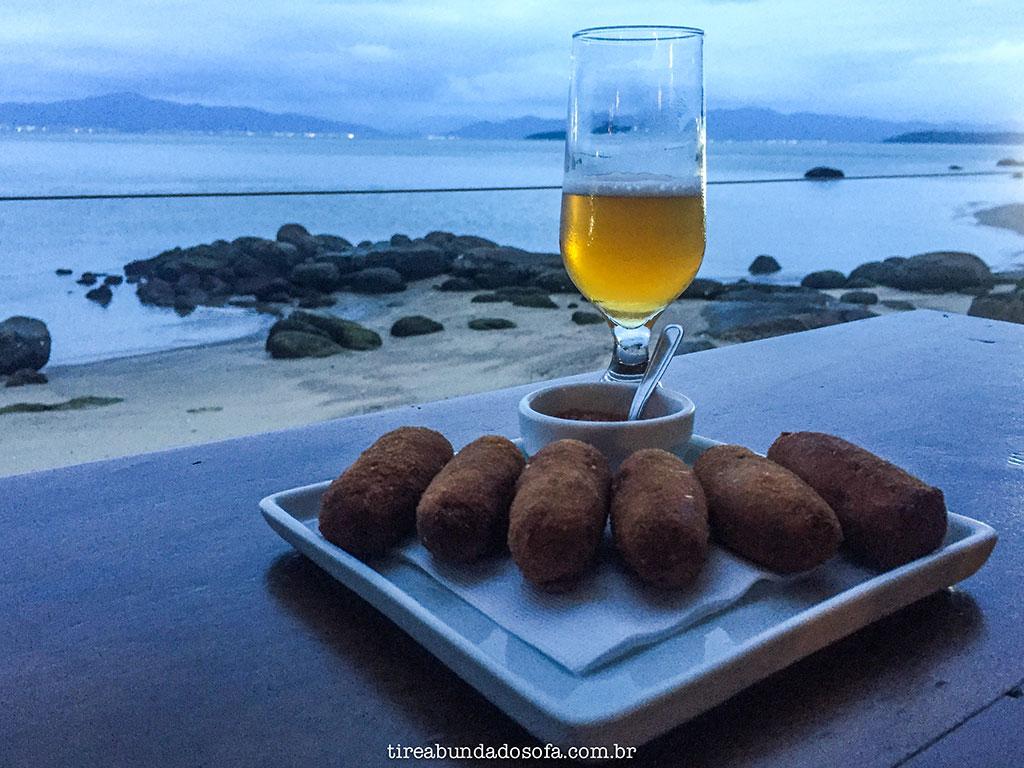 bolinho de peixe no Restaurante Rosso, em Florianópolis