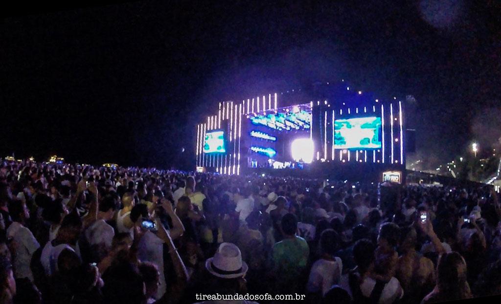 Show de reveillon na praia de copacabana, no rio de janeiro