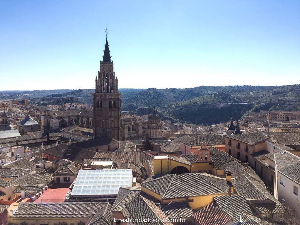 Vista do alto de Toledo, na espanha