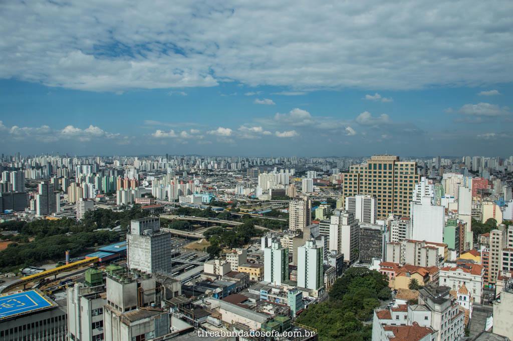 a melhor vista de São Paulo, no Farol Santander