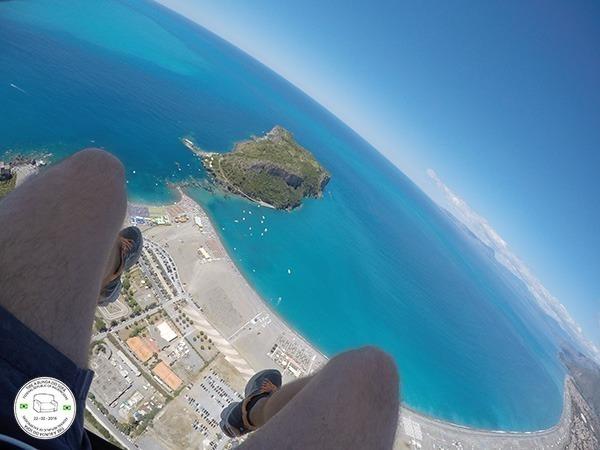 voo de parapente no sul da itália, praia a mare