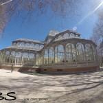 palácio de cristal do parque del retiro, madri, espanha, madrid
