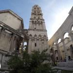 interior da parte antiga da cidade de Split, Croácia