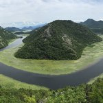 rio em curva U em montenegro, skadar bojana