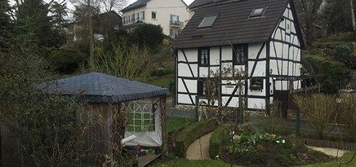casa de arquitetura típica alemã, em Bonn, Alemanha